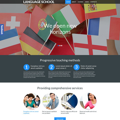 Language School Responsive WordPress Theme (education WordPress theme) Item Picture