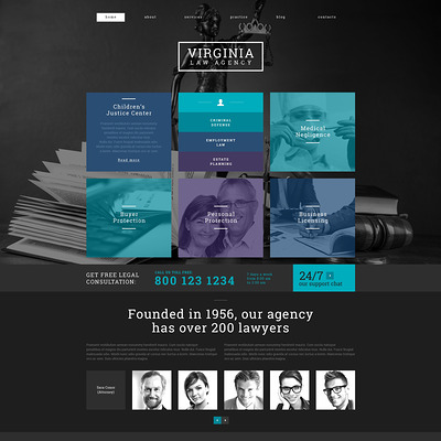 Law Firm Responsive WordPress Theme (WordPress theme for lawyers and law firms) Item Picture