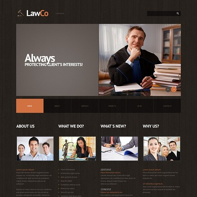 Law Responsive WordPress Theme (WordPress theme for lawyers and law firms) Item Picture