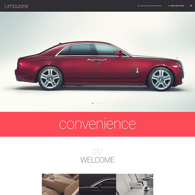 Limousine WordPress Theme (WordPress theme for car, vehicle, and automotive websites) Item Picture