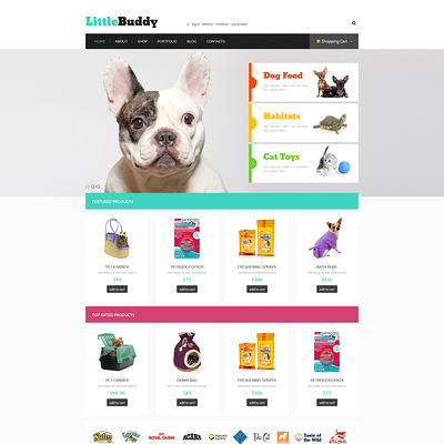 Little Buddy WooCommerce Theme (WooCommerce theme for animals and pets) Item Picture
