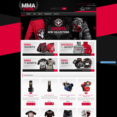MMA Items Shopify Theme (Shopify theme for sports stores) Item Picture