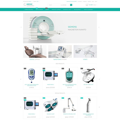 Medical Equipment Magento Theme (Magento theme for medical and health stores) Item Picture