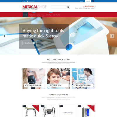 Medical Equipment Shopify Theme (Shopify theme for medical and health stores) Item Picture