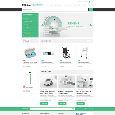 Medical Stuff Store Magento Theme (Magento theme for medical and health stores) Item Picture