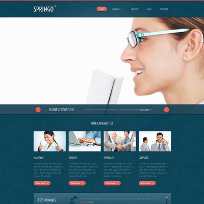 Merchant Services Responsive Joomla Template (Joomla template for financial websites) Item Picture