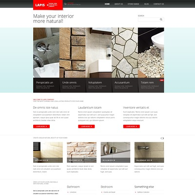 Minimalist Interior Design Joomla Template (Joomla template for interior design websites) Item Picture