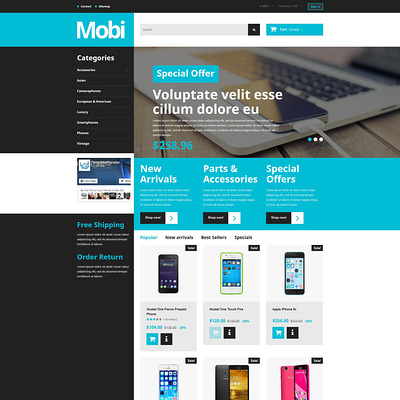 Mobi PrestaShop Theme (PrestaShop theme for electronics stores) Item Picture