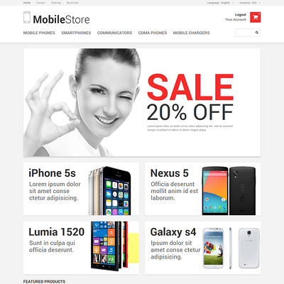Mobile Phones PrestaShop Theme (PrestaShop theme for electronics stores) Item Picture
