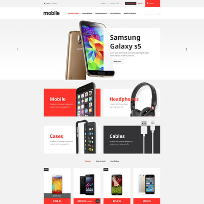Mobile Phones Store PrestaShop Theme (PrestaShop theme for electronics stores) Item Picture