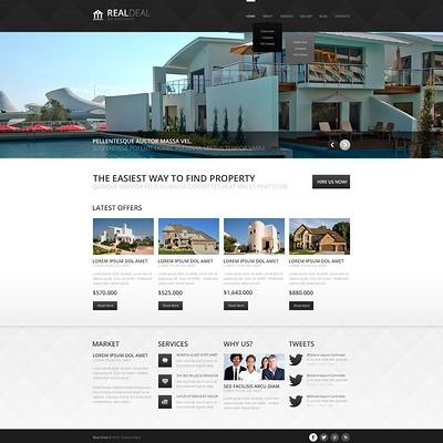 Modern Real Estate Agency Joomla Template (Joomla theme for real estate) Item Picture
