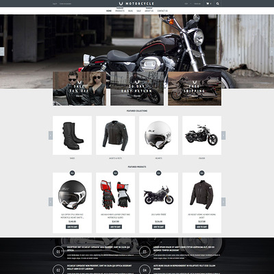 Motorcycle Store Shopify Theme (Shopify theme for car, vehicle, and automotive stores) Item Picture