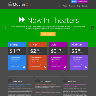 Movie Entertainment WordPress Theme (WordPress theme for movie websites) Item Picture