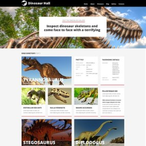 Museum Responsive WordPress Theme (museum WordPress theme) Item Picture