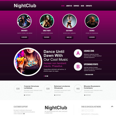 Night Club Responsive Joomla Template (Joomla template for night clubs) Item Picture