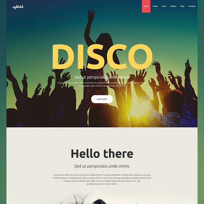 Nightclub Joomla Template (Joomla template for night clubs) Item Picture
