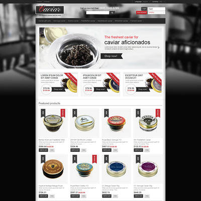 Nourishing Caviar PrestaShop Theme (PrestaShop theme for food stores) Item Picture
