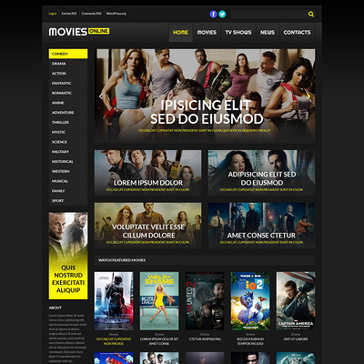 Online Cinema WordPress Theme (WordPress theme for movie websites) Item Picture