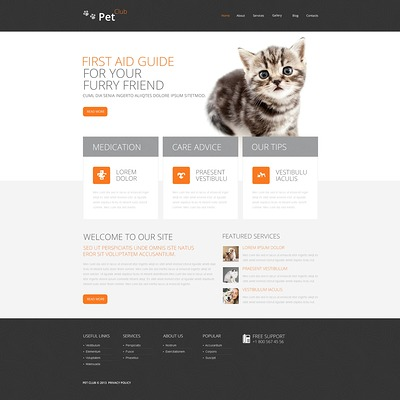 Pet Club Drupal Template (Drupal theme for pets and animals) Item Picture