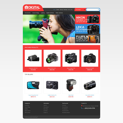 Photo & Video Store PrestaShop Theme (PrestaShop theme for electronics stores) Item Picture