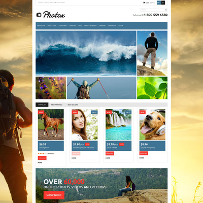Photo and Video PrestaShop Theme (PrestaShop theme for stock videos and images) Item Picture