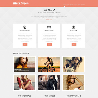 Photographer Portfolio WordPress Theme (WordPress theme for photogaphers) Item Picture