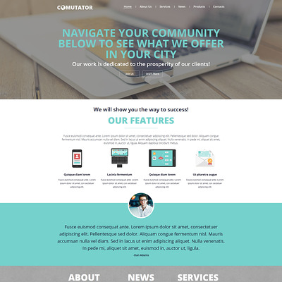 Powerful Communications Joomla Template (Joomla template for internet providers and communications companies) Item Picture