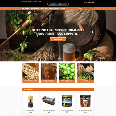 Pro Beer Brewing Magento Theme (Magento theme for selling beer, wine, and liquor) Item Picture