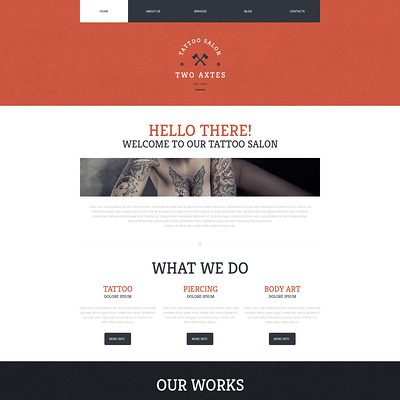 Quality Tattoo Artistry WordPress Theme (WordPress theme for tattoo studios) Item Picture