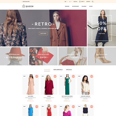 Queen (PrestaShop theme for womens clothing) Item Picture