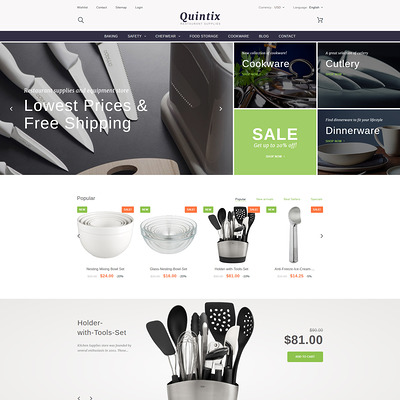Quintix (PrestaShop theme for housewares and kitchen supplies) Item Picture