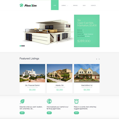 Real Estate Agency Joomla Template (Joomla theme for real estate) Item Picture