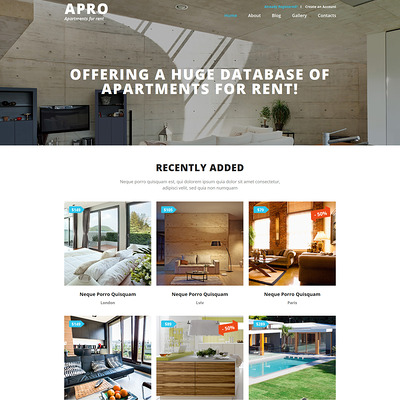 Real Estate Business Joomla Template (Joomla theme for real estate) Item Picture