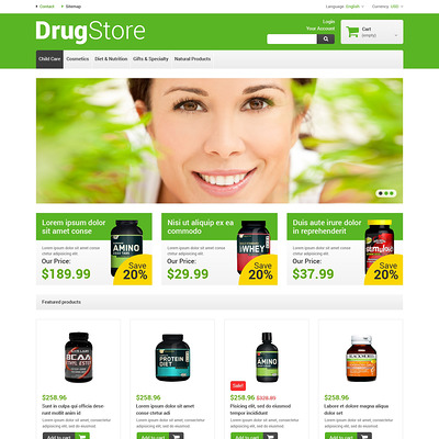 Reliable Drugstore PrestaShop Theme (PrestaShop theme for health and medical stores) Item Picture
