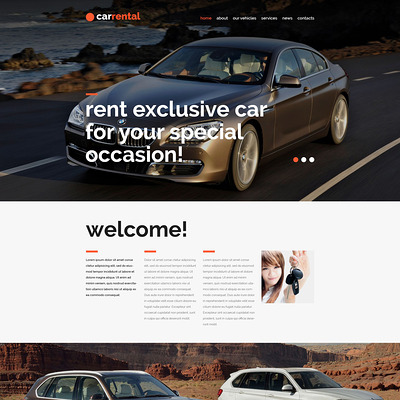 Rental Cars Joomla Template (Joomla template for car, vehicle, and automotive websites) Item Picture