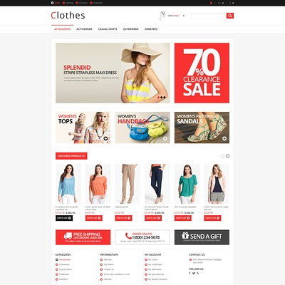 Responsive Clothing Store PrestaShop Theme (PrestaShop theme for womens clothing) Item Picture