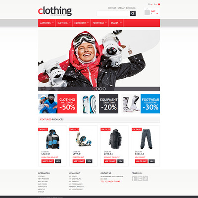 Responsive Clothing Store PrestaShop Theme (PrestaShop theme for sports stores) Item Picture