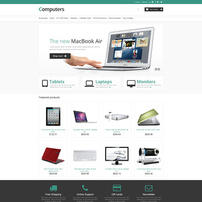 Responsive Computers Store PrestaShop Theme (PrestaShop theme for computer hardware stores) Item Picture
