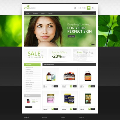 Responsive Drugstore PrestaShop Theme (PrestaShop theme for health and medical stores) Item Picture