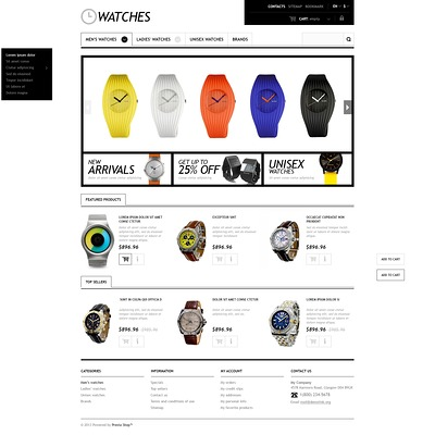 Responsive Watches Store PrestaShop Theme (PrestaShop theme for watch stores) Item Picture