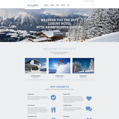 Rocky Hotel WordPress Theme (WordPress theme for hotels) Item Picture