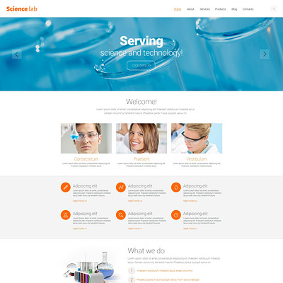 Science Lab Drupal Template (Drupal theme for education) Item Picture