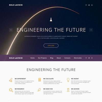Science Responsive WordPress Theme (science WordPress theme) Item Picture
