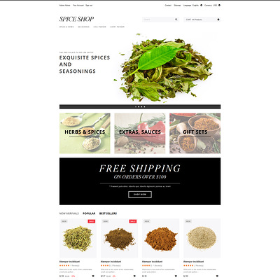 Spices and Seasonings PrestaShop Theme (PrestaShop theme for food stores) Item Picture