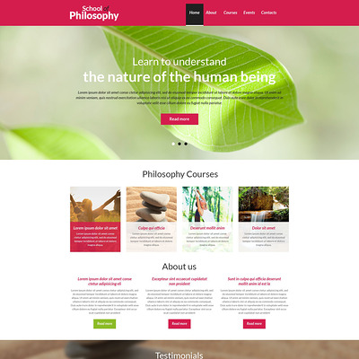 Spiritual Enlightenment Club Drupal Template (Drupal theme for education) Item Picture