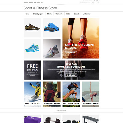 Sports Shop Magento Theme (Magento theme for sports stores) Item Picture