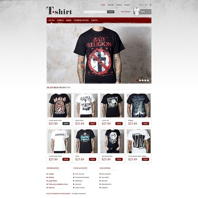 Star T-Shirts Store PrestaShop Theme (PrestaShop theme for t-shirt stores) Item Picture