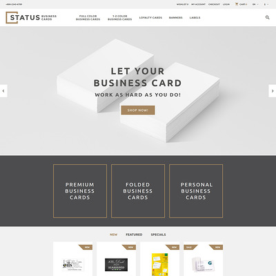 Status OpenCart Template (OpenCart theme for stationery, business cards, and office supplies) Item Picture
