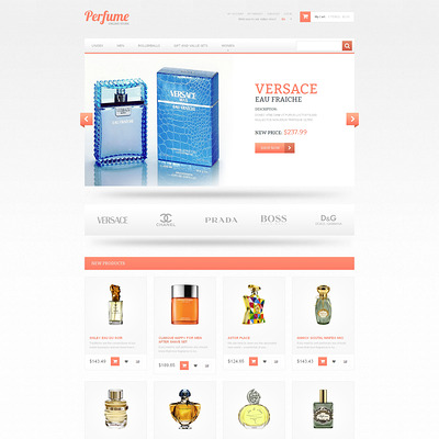 Subtle Fragrance Magento Theme (Magento theme for hair and beauty products) Item Picture