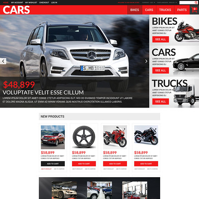 Successful Auto Dealers Magento Theme (Magento theme for car, automotive, and vehicle stores) Item Picture